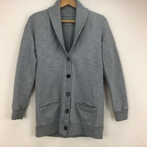J. Crew Rumpled French Terry button up cardigan M